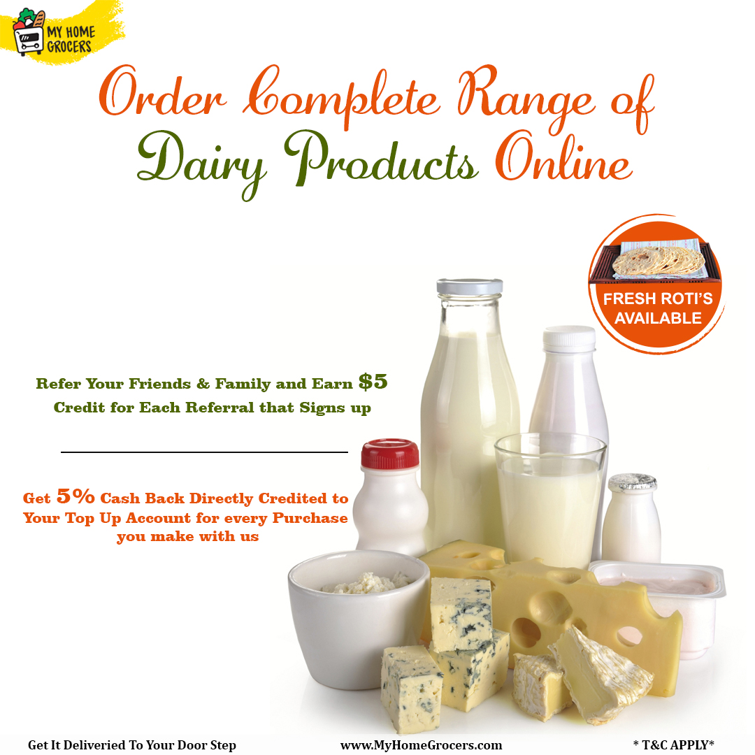Order Complete Range Of Dairy Products Online