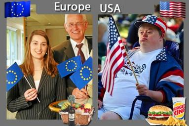 Three Major Diffrences between Europe and U.S.A},{Three Major Diffrences between Europe and U.S.A